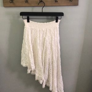 Free People Floral Lace Asymmetrical Skirt